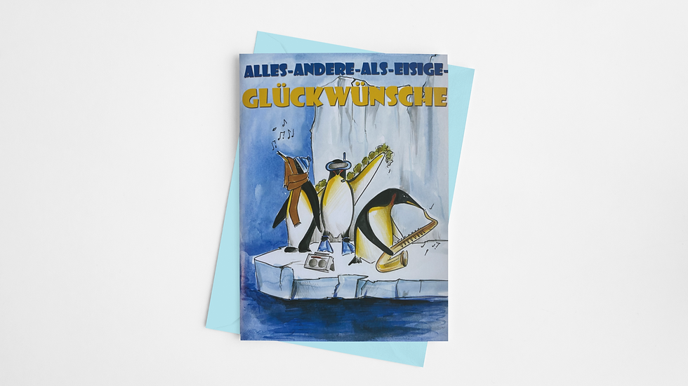 Pinguin-Karte - Der kunterbunte Lesespaß