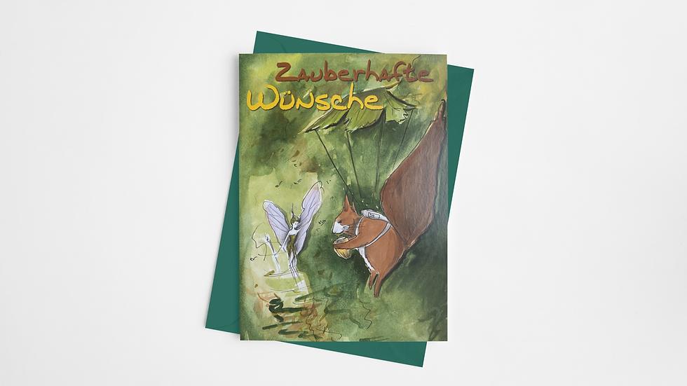 Zauberhafte-Karte - Der kunterbunte Lesespaß