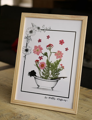 Bain fleuri