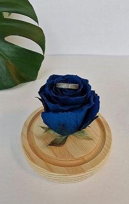 Mini cloche - rose éternelle bleue
