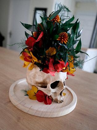 "Crâne fleuri ""Tropical"""