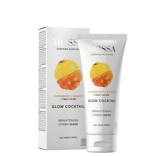 Mossa Certified Cosmetics Brightening Hydro Mask, natürliche feuchtigkeitsspendende Gesichtsmaske, ethisch, nachhaltig