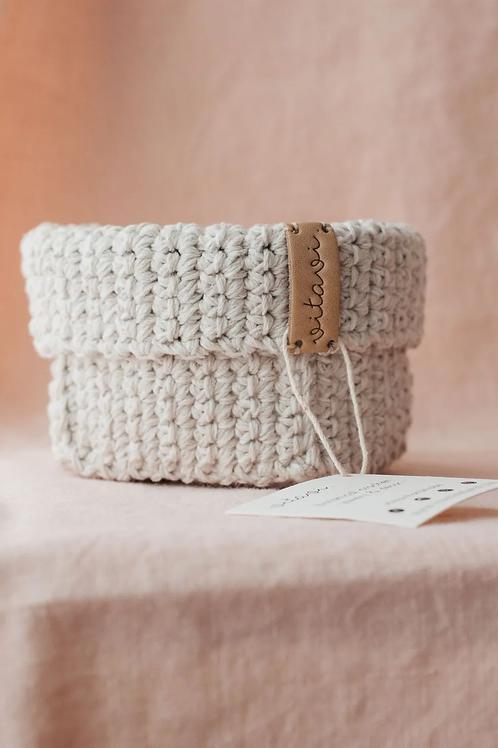 Crochet Körbchen cream - Small