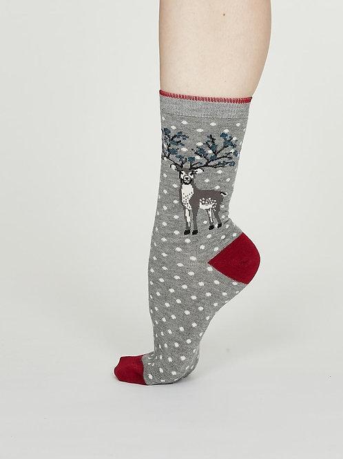Elias Bamboo Socks - Mid Grey Marle
