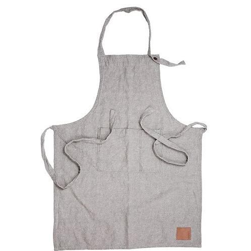 Schürze Baumwolle/Leinen - grau