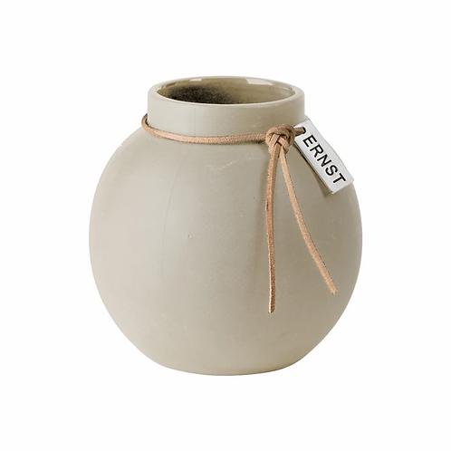 Vase Steinzeug natur S