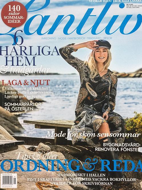 LANTLIV - AUGUST 21 - schwedisches Landleben/Wohnen Magazin