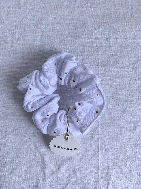 Scrunchie - Haargummi - Glitter White