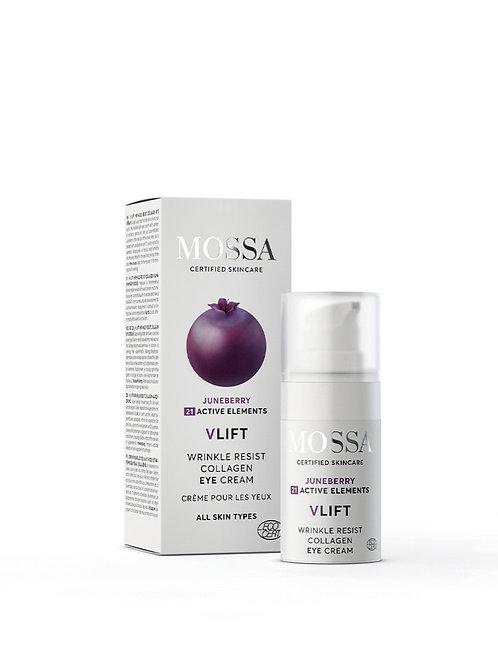 Mossa Certified Cosmetics V-Lift wrinkle resist collagen Eye Cream, natürliche Augencreme, ethisch, nachhaltig