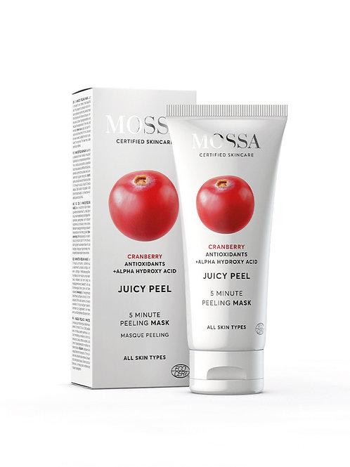 Mossa Certified Cosmetics Juicy Peel 5 Minute Peeling Mask, natürliche Peelingmaske, ethisch, nachhaltig