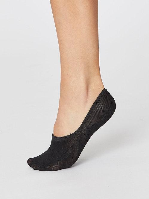 Ankle No Show Socken Bambus nachhaltig fairtrade schwarz Thought Füssi