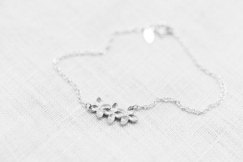 Armband Floral Bracelet - Silber