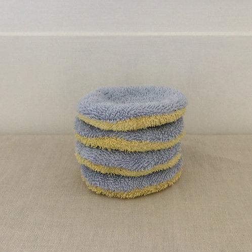 Waschbare Kosmetik Pads - Hellblau - Einzeln