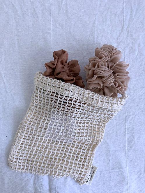 Scrunchie Bag aus Bio-Baumwolle