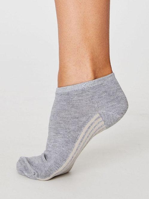 Ankle Sneaker Socken Bambus nachhaltig fairtrade grau Thought Füssi