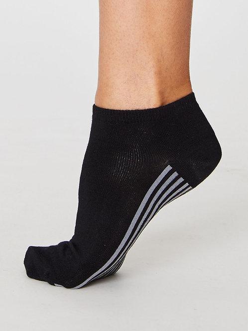 Ankle Sneaker Socken Bambus nachhaltig fairtrade schwarz Thought Füssi