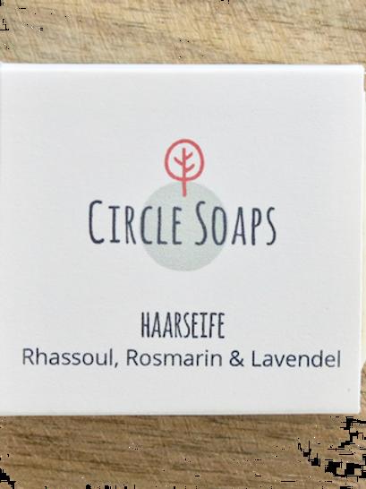 Hair Soap Rhassoul, Rosmarin & Lavendel - Haar Seife
