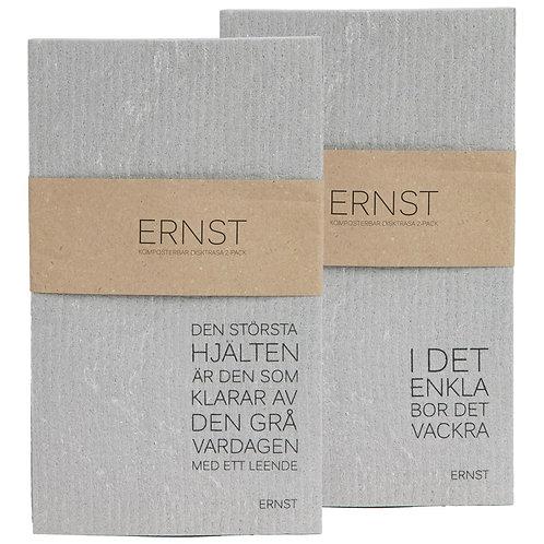 Spüllappen Spülschwamm kompostierbar grau Ernst Schweden