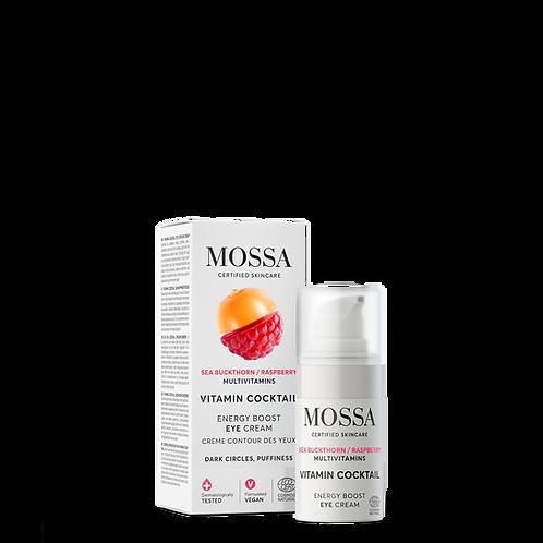 Mossa Certified Cosmetics, Vitamin Cocktail Eye Cream, natürliche Augencreme gegen dunkle Ringe und Schwellungen