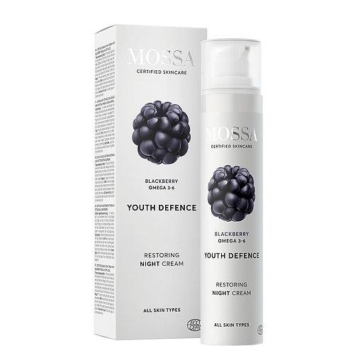 Mossa Certified Cosmetics Youth Defence Restoring Night Cream, natürliche regenierende Nachtcreme, ethisch, nachhaltig