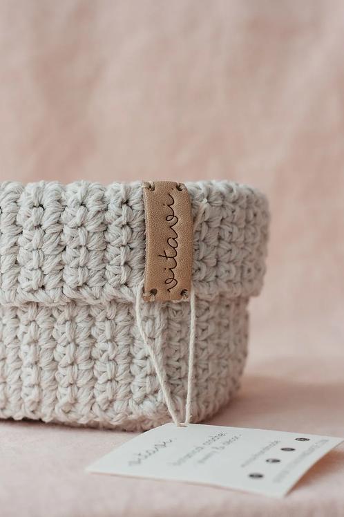 Crochet Körbchen cream - Big
