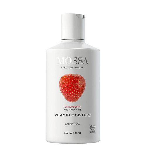 Mossa Certified Cosmetics Vitamin Moisture Shampoo, natürliches feuchtigkeitspendendes Shampoo, ethisch, nachhaltig