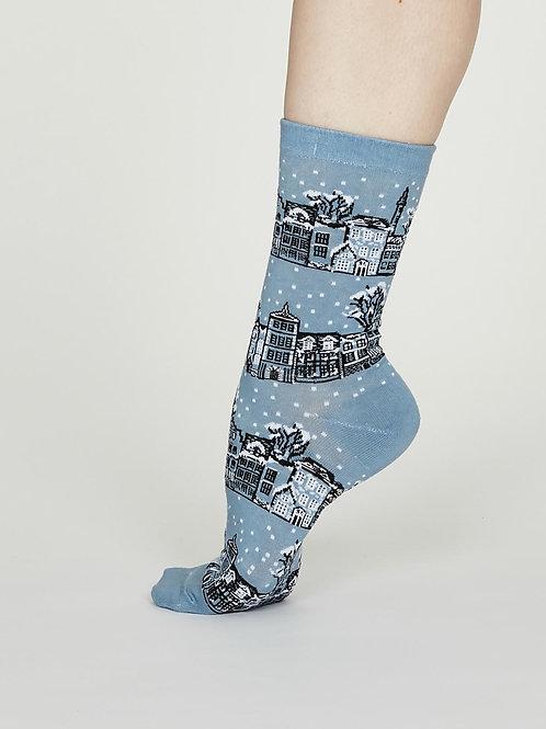 Godelena Cotton Socks - Powder Blue