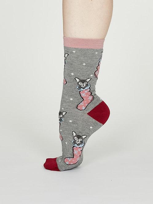 Jena Bamboo Socks - Mid Grey Marle