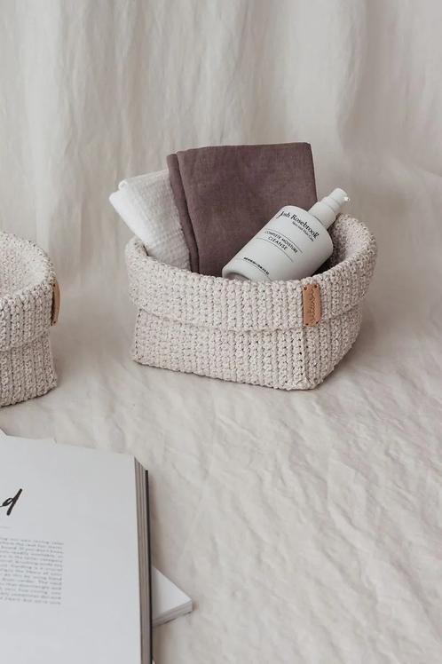 Crochet Körbchen cream - Large
