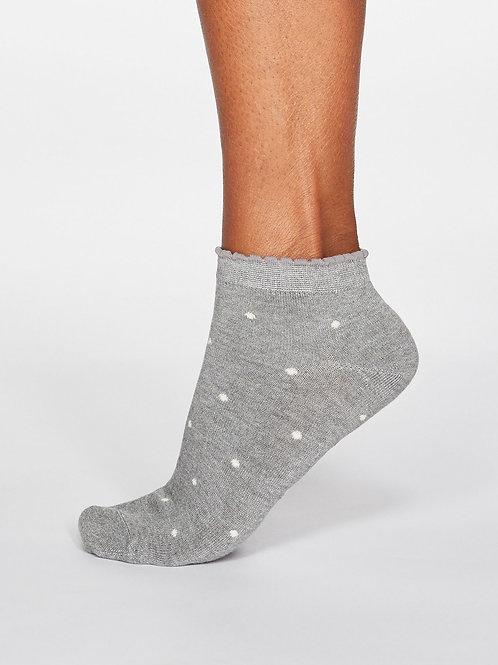 Eudora Spotted Bamboo Socks - Grey Marle