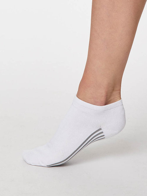 Ankle Sneaker Socken Bambus nachhaltig fairtrade weiss Thought Füssi