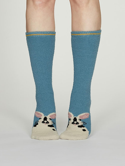 Rebecca Fuzzy Socks - Powder Blue
