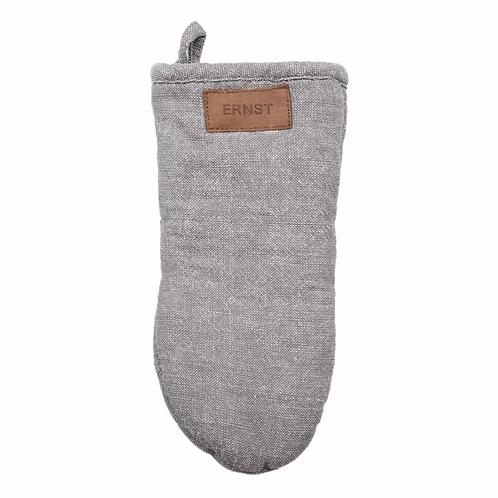 Ofenhandschuh grau Leinen Baumwolle Ernst schweden