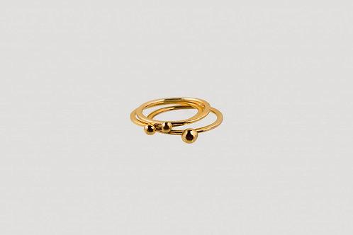 ring trio gold nachhaltig bewusst ethisch fair julia otilia your green boutique