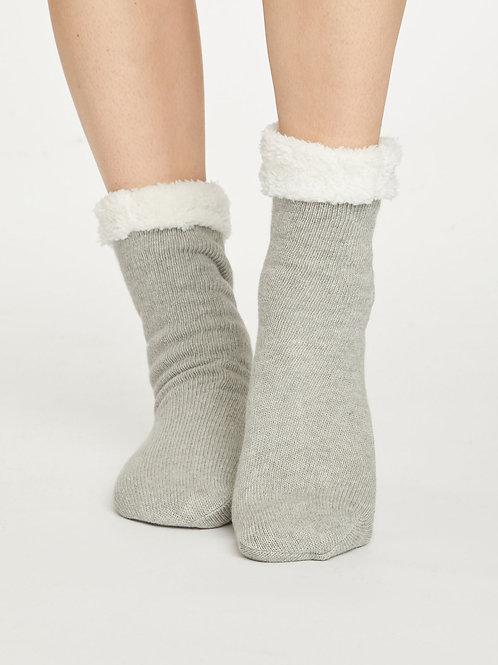 Sleepy Cabin Socks - Grey Marle