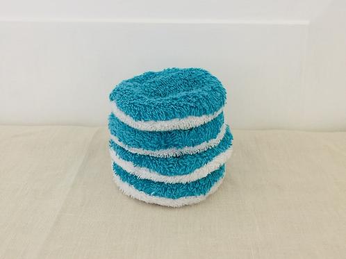Waschbare Kosmetik Pads - Türkis - Einzeln
