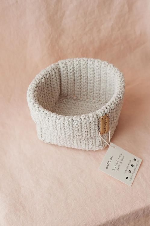 Crochet Körbchen cream - Medium