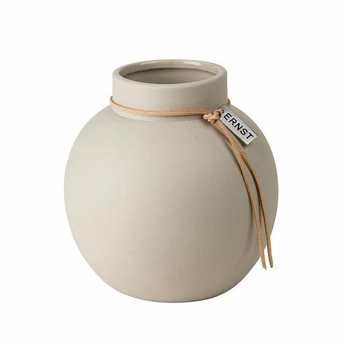 Vase Steinzeug natur M