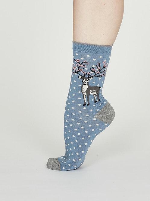 Elias Bamboo Socks - Powder Blue