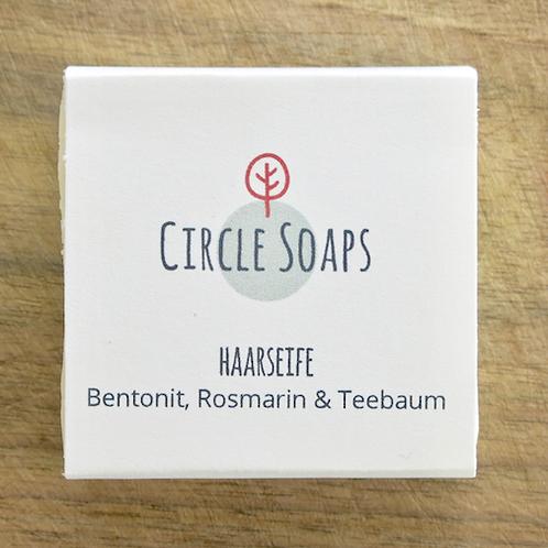 Haar Seife fettige Haare Bentonit Rosmarin Teebaum Circle Soaps