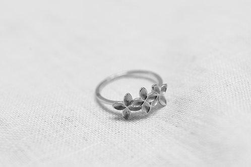 Floral Mist Ring - Silber
