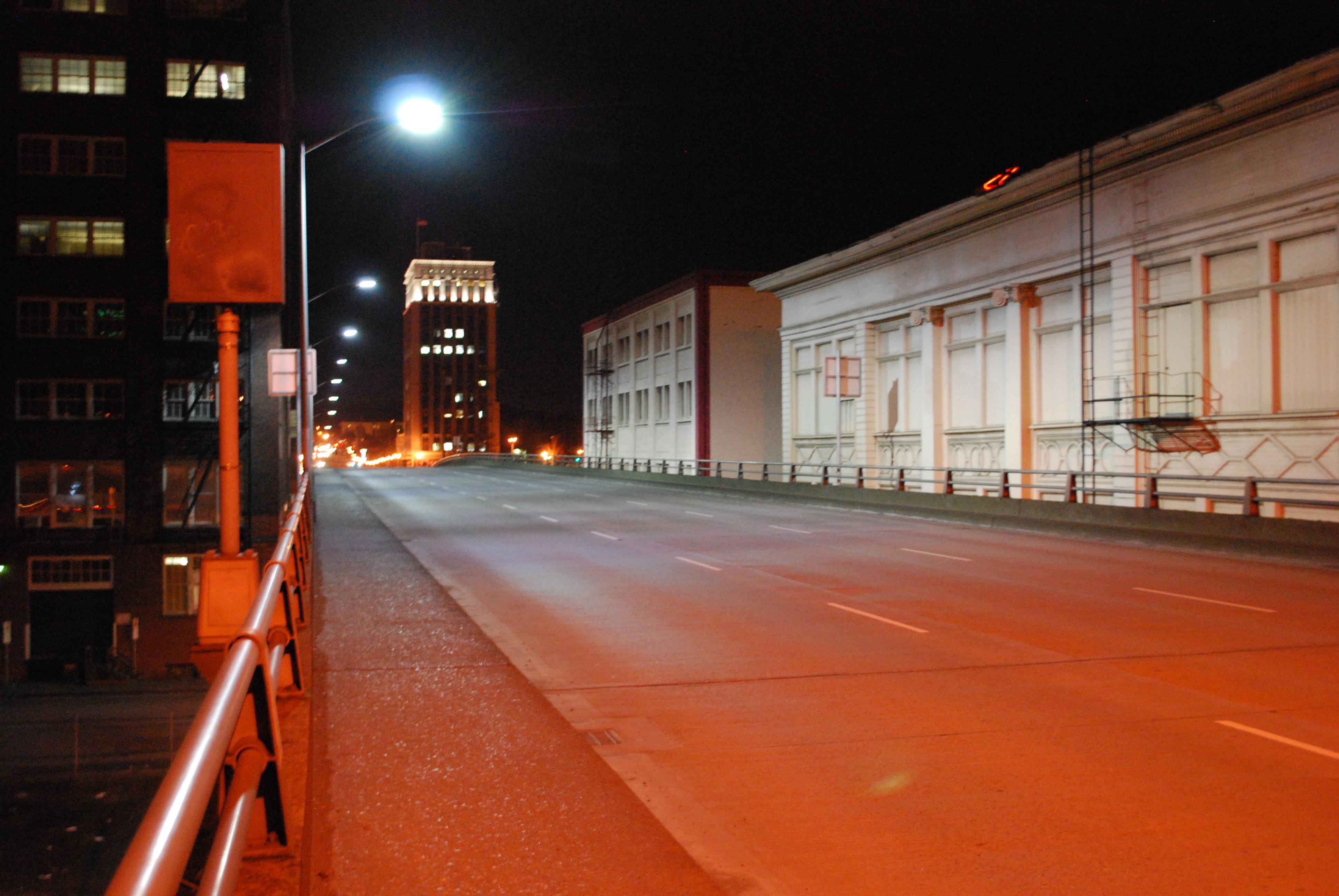 Morrison Bridge, 400 watt HPS