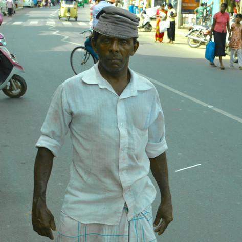 Manual laborer in Jaffna Town