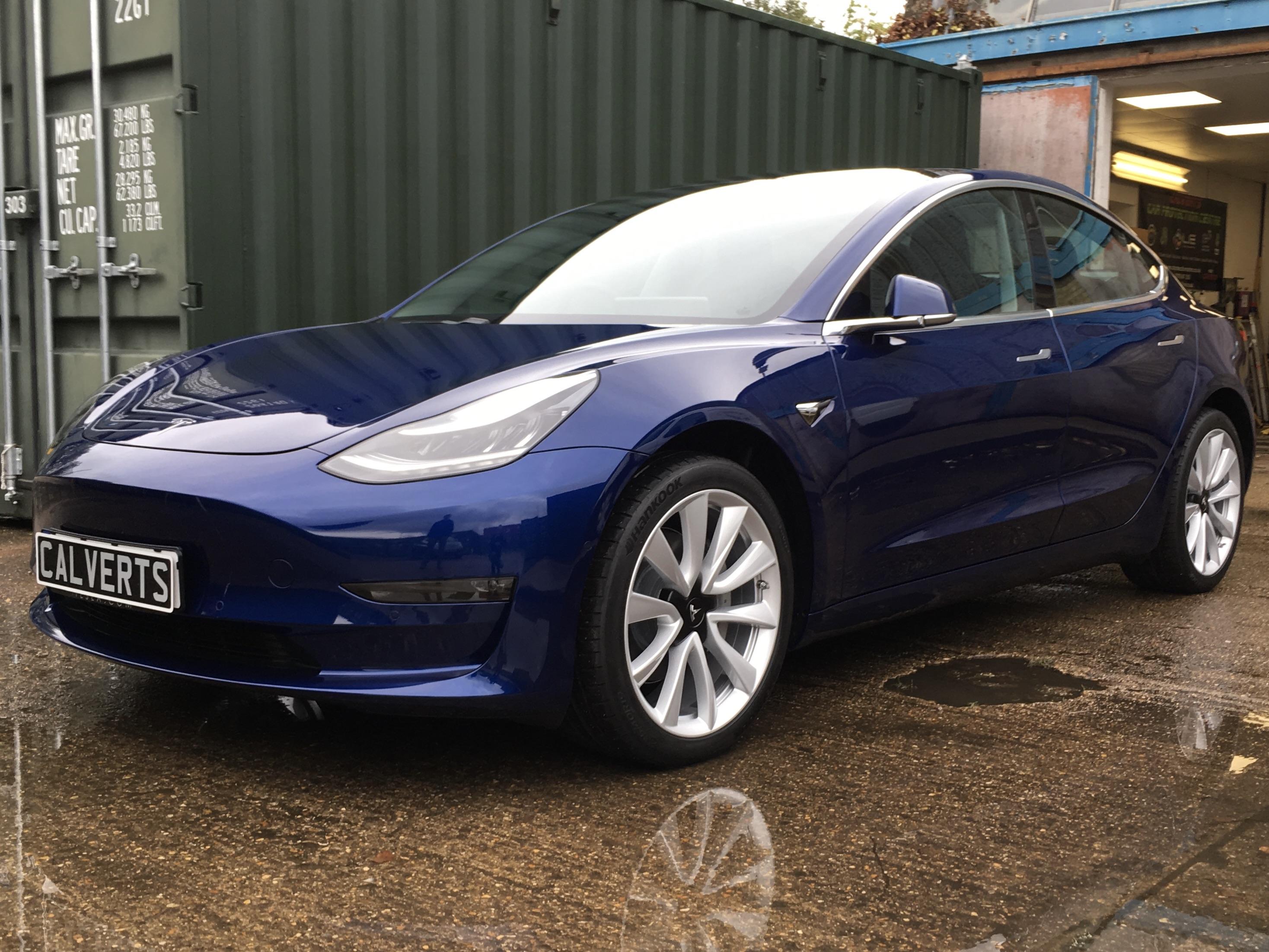 Tesla Model 3 Blue