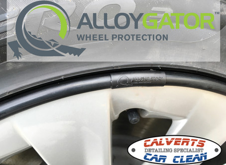 Alloygator Wheel Protectors fitted to Tesla Model S.