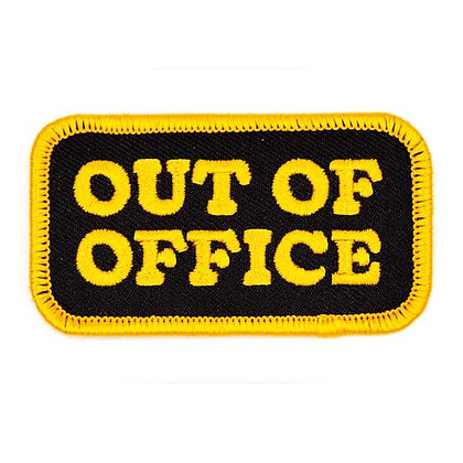 OUT OF OFFICE EMBROIDERED IRON-ON PATCH