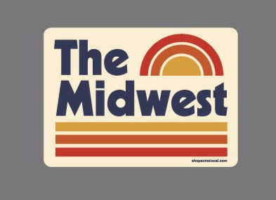THE MIDWEST RAINBOW STICKER