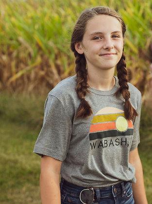 WABASH IN SUNSET RAINBOW TEE