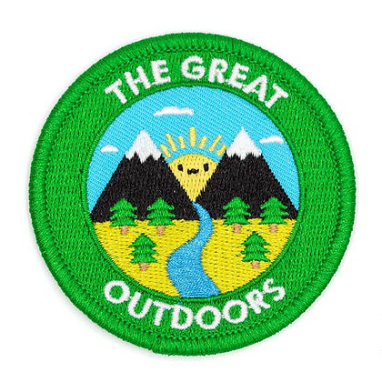 THE GREAT OUTDOORS EMBROIDERED IRON-ON PATCH