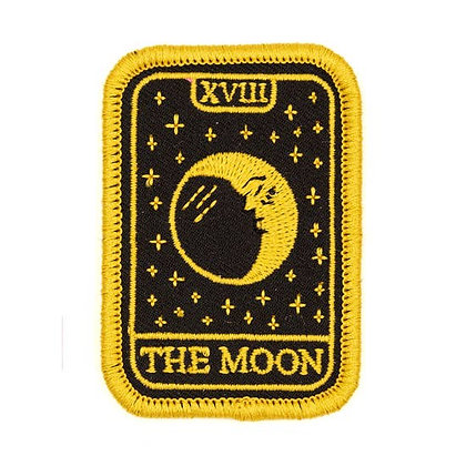 MOON TAROT EMBROIDERED IRON-ON PATCH